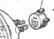 Lucas bulb holder 553738 late exploded view