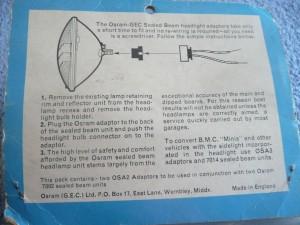 Adaptor BPF to 2 pin instruction
