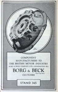 Borg & Beck old advertisement 1