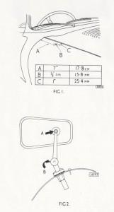 Jaguar drawing mirror position E type