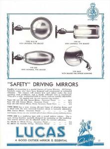 Lucas mirror advertisement 1937