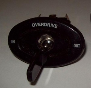 Overdrive switch XK 150