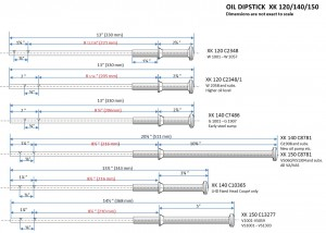 Survey oil dipsticks XKs