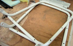 Later backrest frame 140