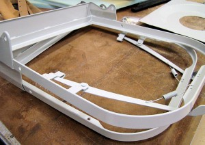 Later seat base frame 140