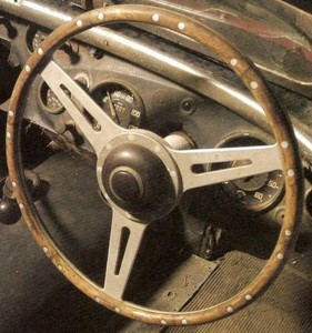 Donald Healey early segmented wheel