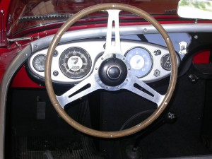 Donald Healey wheel made by Coventry Timber Bending