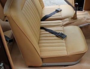 New XK 140 seat upholstery pattern