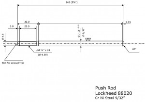Push rod Lockheed 88020