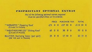 Detail price list Mk VIII and IX Oct 1958
