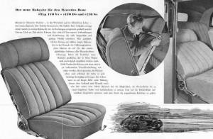keiper reclining system brochure Mercedes 170