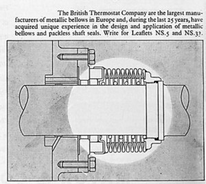 British Thermostat seamless metalic bellows