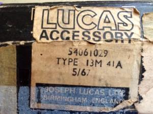 Lucas box type 13M 41A 5 67