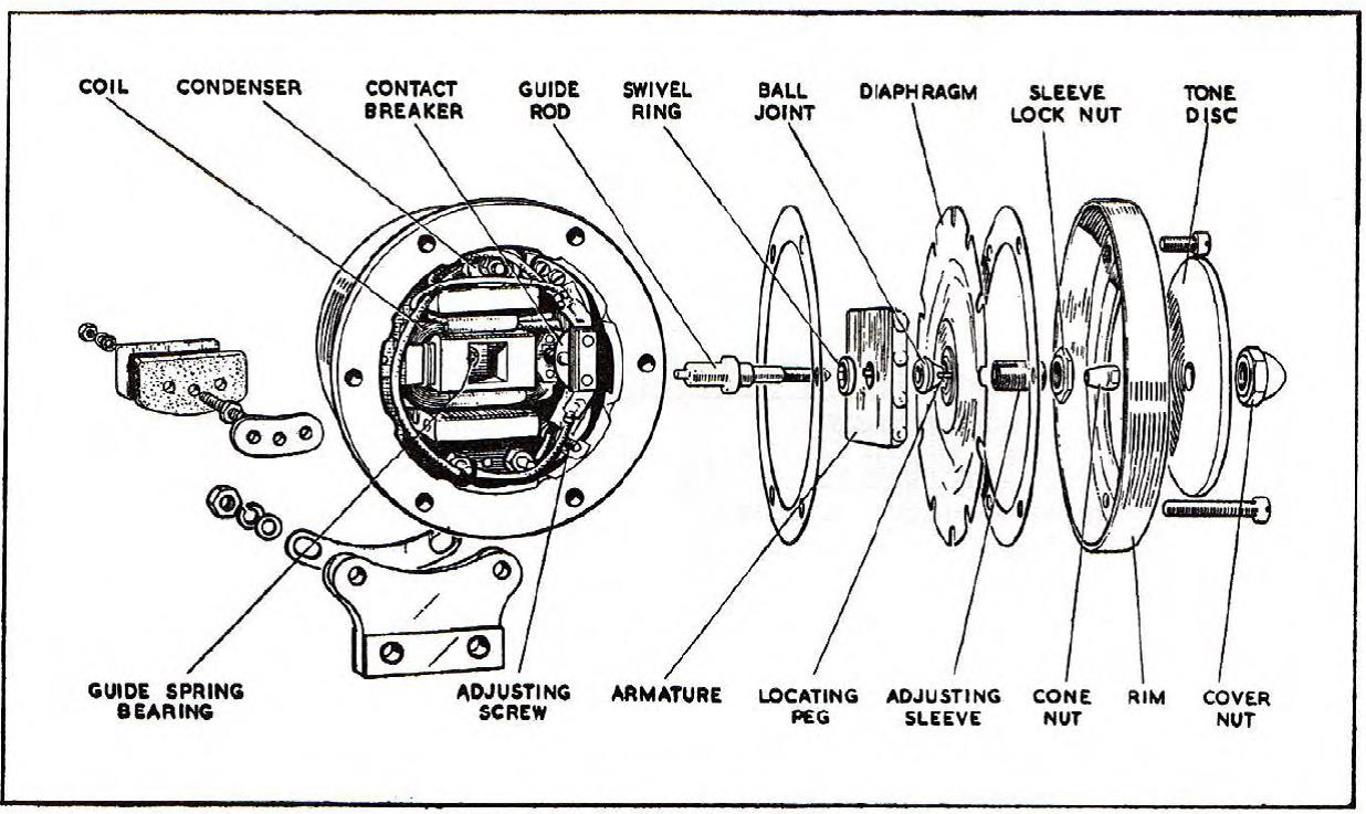 Lucas High Frequency Horn Hf1748 On Jaguars 1953 To 1961 Jaguar 1954 C Type Fuse Box Diagram Exploded View Of